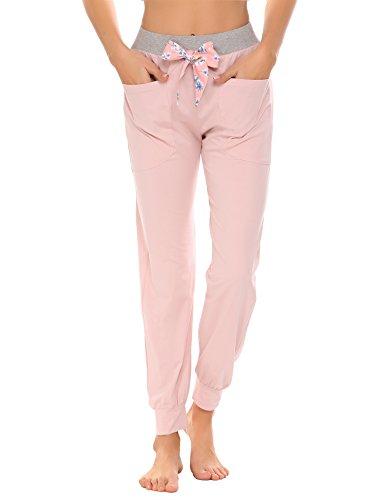 Damen Schlafanzughose Pyjamahose Nachtwäsche Hose Baumwolle Lang Sleep Hose Pants (Pyjama Damen Hose)