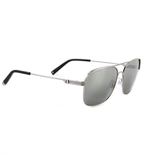 DSQUARED ² Designer Retro Vintage Sonnenbrille Mattsilber mit blauen Gläsern