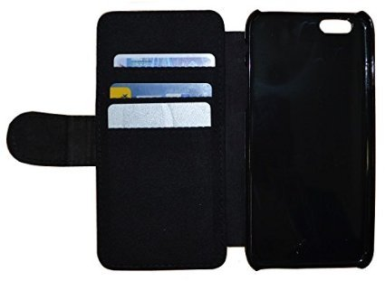 Kuna Flip Cover für Apple iPhone 5 / 5s Design K233 Abstract Bunt Hülle aus Kunst-Leder Handy Tasche Etui mit Kreditkartenfächern Schutzhülle Case Wallet Buchflip Rückseite Schwarz Vorderseite Bedruck K251