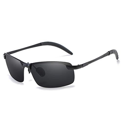 UK Herren Sonnenbrille Polarizer/Classic Retro Sport Wayfarer Black Mirror/Outdoor Driving Spiegel/TAC Farbfilm UV400 Gr. Medium, Gray Piece Black Box