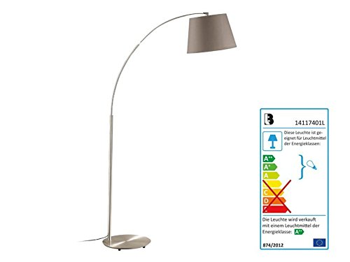 LED-Stehleuchte Lampenschirm Farbe Cappuccino Taupe