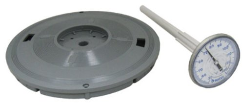 Pentair L6g 9–1/4-Zoll grau Deckel Ersatz Pool und Spa Skimmer mit Thermometer