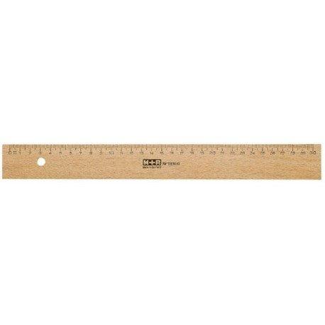 M+R 719500000 Lineal Holz 50 cm Buche Metalleinlage