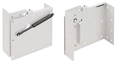 Gedotec Klappbeschlag Klappbett-Beschlag querliegend | Bettbeschlag selbsttragend für Matratzen bis 2000 mm | Stahl weiß lackiert | Tragkraft bis 200 kg