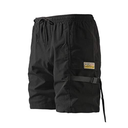 short Badehose Strandhose Kurz Vielfarbig Schnelltrocknend Beachshorts Boardshorts mit Verstellbarem Tunnelzug für Männer ()