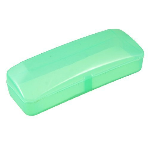 plastic-clear-green-rectangular-eyeglasses-case-storage-box-59-long