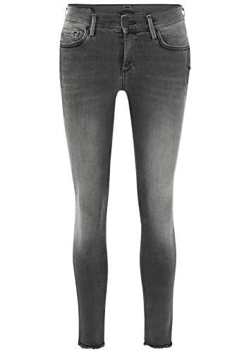 True Religion Damen Skinny Jeans Halle Superstretch Black Stripe Schwarz 1001, W26/L32 (Herstellergröße: 26)