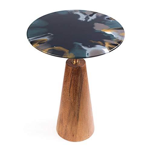 Tables Table Basse Table De Téléphone Table De Chevet Minimaliste Moderne Rond Côté Salon Canapé Table D'appoint D'angle Petite Table Ronde Chambre Table D'appoint De Balcon Noir Tables de dos de cana