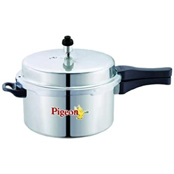 Pigeon Favourite Induction Base Aluminium Pressure Cooker with Outer Lid, 3 Litres, Silver