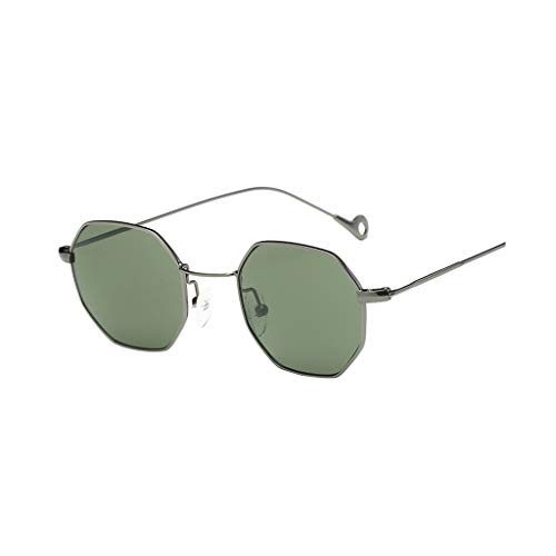 Damen Sonnenbrille Neue Modell Metall Flach Linsen Sonnenbrillen Diamant-Schneidlinse Klassisch Katzenaugen Sportsonnenbrille Motorradbrille Sportbrille (Grün)