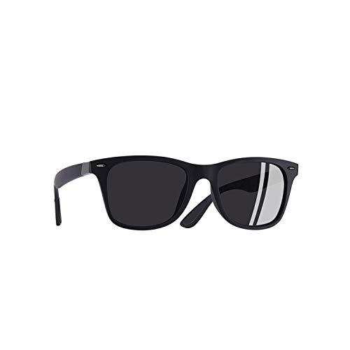 Sportbrillen, Angeln Golfbrille,NEW DESIGN Ultralight TR90 Polarisiert Sunglasses Men Women Driving Square Style Sun Glasses Male Goggle UV400 Gafas De Sol C2Matte Black