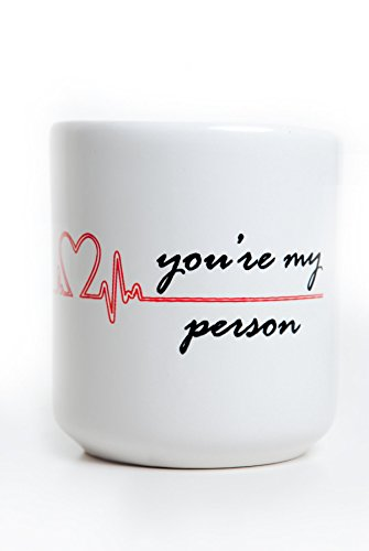 """""""You're My Person"""" Heart Mug, inspired by Grey's Anatomy"""