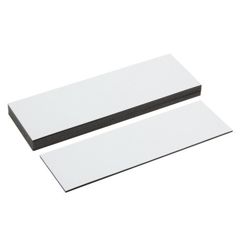first4magnets 120 x 40 x 0.76mm Flexible Magnetic Labels with Dry Wipe Surface - Gloss White (Pack of 10) Test