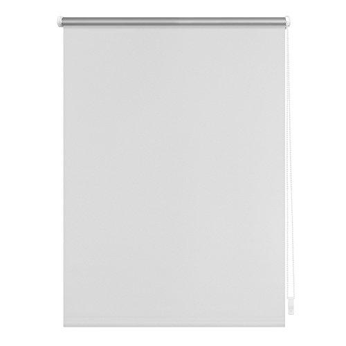 Jalousien Rollo (Lichtblick Thermo-Rollo, 80 cm x 150 cm (B x L) in Weiß, ohne Bohren, Sonnen-, Sicht-, Hitze- & Kälte-Schutz, reflektierende Thermofunktion, Klemmfix für Fenster & Türen)