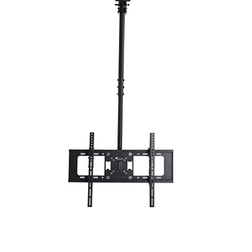 Vemount Fernseher Deckenhalterung TV Monitorhalterung Belastung 30 bis 65 Zoll bis zu 40 kg max Deckenhalter Schwenkbar Neigbar Klappbar Decken Halterung Fernseherhalterung LED LCD Halter VESA 600x400