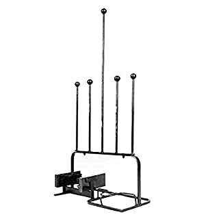 ARSUK Boot Rack Holder Stand Storage 2 Pair with Boot Scraper Jack, Mud and Clay Remover Made Solid Iron Matt Black Powder Coating. For Indoor and outdoor r (2 Pair Boot Rack with Scraper)