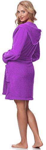 Merry Style Damen Bademantel mit Kapuze 1GN2S Violett