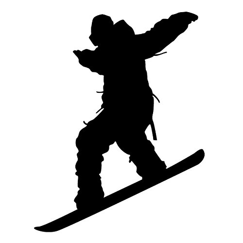 Wadeco Snowboard Jump Wandtattoo Wandsticker Wandaufkleber 35 Farben verschiedene Größen, 37cm x 48cm, braun (Snowboard-131)
