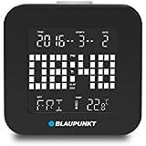 Blaupunkt CL 20Bk Réveil multifonction alarme et snooze, date, affichage semaine, affichage de la température, rétro-éclairage LED (Noir)