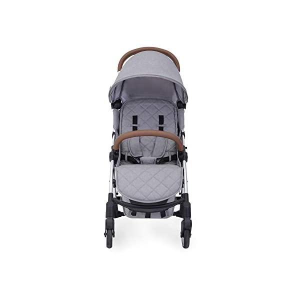 Ickle Bubba Baby Strollers | Lightweight and Portable Stroller Pushchair | Folds Slim for Ultra Compact Storage | UPF 50+ Extendable Hood and Rain Cover | Globe, Grey/Silver Ickle Bubba ONE-HANDED 3 POSITION SEAT RECLINE: Baby stroller suitable from birth to 15kg-approx. 3 years old; features rain cover UPF 50+ RATED ADJUSTABLE HOOD: Includes a peekaboo window to keep an eye on the little one; extendable hood-UPF rated-to protect against the sun's harmful rays and inclement weather ULTRA COMPACT AND LIGHTWEIGHT: Easy to transport, aluminum frame is lightweight and portable-weighs only 6.4kg; folds compact for storage in small places-fits in aeroplane overhead; carry strap and leather shoulder pad included 3