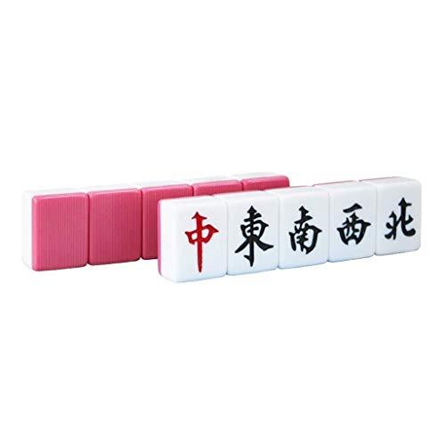 Mah Jong Handtasche Traditionelles Spiel Chinesische Marke Gibt Amin Reiben Melamin Honig (Color : Rose Red, Size : 3.1 * 4.15cm) -