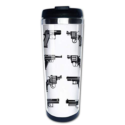 Machine Gun Weapons Stainless Steel Coffee Tumbler Insulated Thermos Cup Travel Mug -