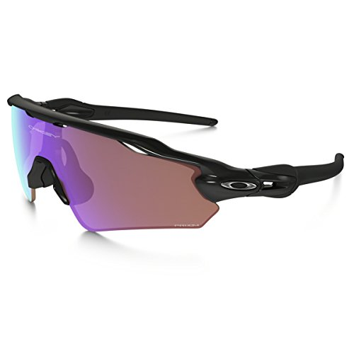 Oakley Men's Radar Ev Path (a) Non-Polarized Iridium Rectangular Sunglasses, Polished Black, 35.01 mm