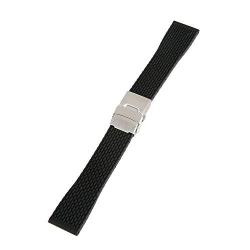 18mm, 20mm, 22mm, 24mm Armbanduhr männer Silikon Genitalsit-Watchstrap-Lins108 Gummi-Uhrenarmband Bereitstellungsschnalle Wasserdichtes Herren Armband