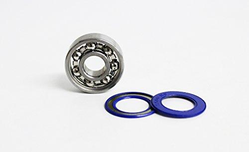6203 Kugellager offen + ungefettet 17x40x12 mm ohne Fett inkl. Dichtscheiben / Industriequalität DIN625-1 / ungeschmiert (6203 Kugellager)