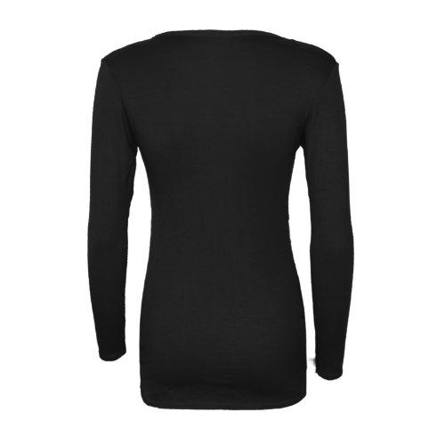 Runway Splash - Cardigan Pour Femme Manches Longues 2 Poches Noir