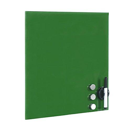 Tableau magnétique en verre Mémo board Vert Tableau aide-mémoire 45x50cm