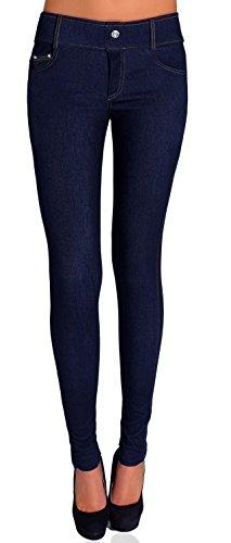 Danaest Damen Jegging Skinny ( Nr. 239-32 ), Grösse:M/L;Farbe:Denim Dunkel Blau
