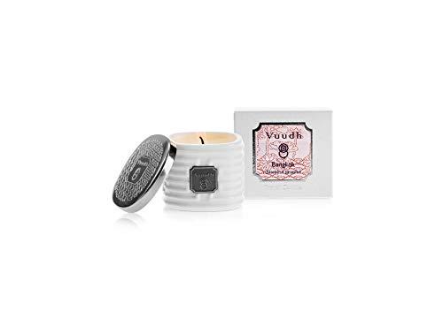 """VUUDH TRAVEL CANDLE""""BANGKOK"""" – Duftkerze, Aromakerze, optimal auch für Massagen -100% natürlich, aus pflanzlichen Ölen, mit reinen ätherischen Ölen (SAMBAC JASMIN) 35g"""