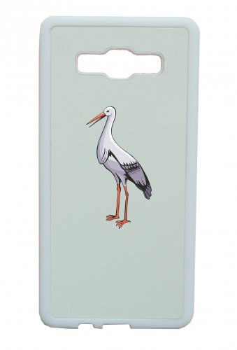 Smartphone Case cicogna con un lungo becco è sinonimo di Apple iPhone 4/4S, 5/5S, 5C, 6/6S, 7& Samsung Galaxy S4, S5, S6, S6Edge, S7, S7Edge Huawei HTC-Divertimento Motiv di cult