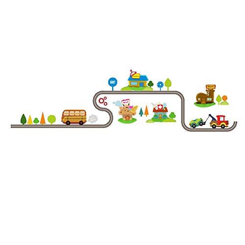 Wohnaccessoires Wanddekoration Kinderzimmer und Kindergarten Wandbild Spielerische Arbeitszone Wandaufkleber für Kleinkinder und Kinderzimmer - Peel and Stick Wand-Dekor für Jungen und Mädchen. -