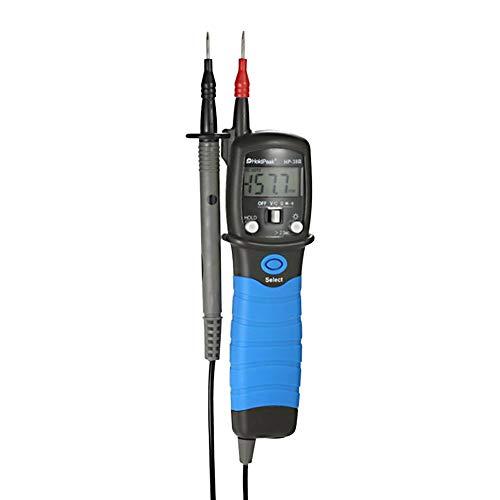 HoldPeak A9G3W7G0 - Multímetro eléctrico (pantalla LCD de bolsillo, tipo lápiz, tensión multímetro digital, resistencia de tensión DC/AC, comprobador de diodos, comprobador electrónico)
