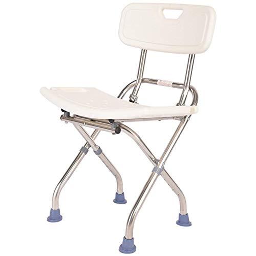 Tellgoy-Chair Bad Dusche Stuhl höhenverstellbar, tragbare Badewanne Lift Stuhl kann 140 kg tragen, Dusche Spa Sitzbank für ältere Menschen Behinderte Schwangere,A - Stuhl ältere Für Menschen Dusche