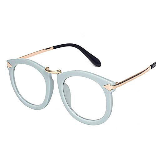 UICICI Mode literarischen Retro Metall Pfeil Brillengestell (Farbe : Blau)