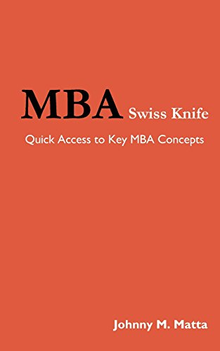 MBA Swiss Knife: Quick Access to Key MBA Concepts