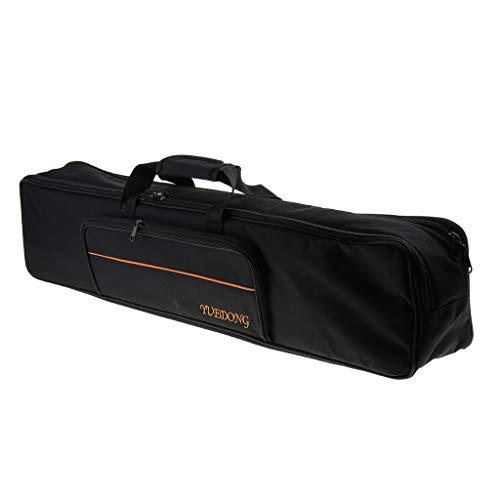 perfk Leichte stoßfeste Box Wasserabweisende Tasche für Jinghu Jing Erhu Ping Erhu - Schwarz