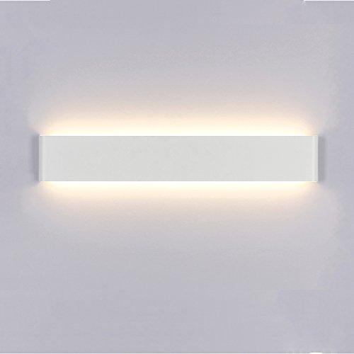 Liqoo Aplique Pared Interior LED Diseño Moderno Cómodo 24W Equivalente a 85W 1182Lm Blanco Cálido 3000k AC85-265V Decoración para Salon Pasillo Escalera Dormitorio Baño No Regulable Longitud 72cm