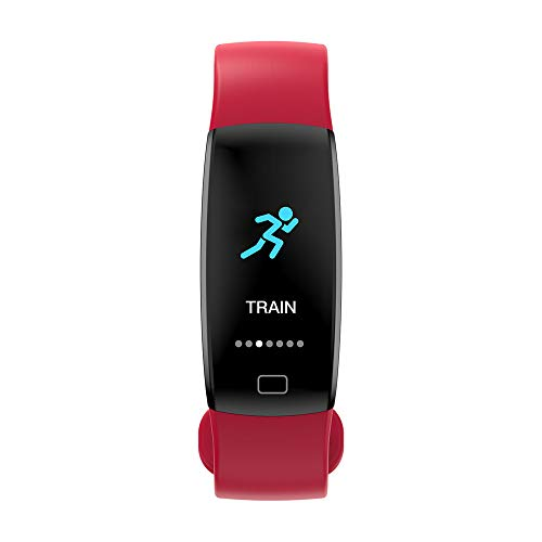 lutdruck-Trainings-Herzfrequenz-Schrittzähler Smart Watch F64Hr Farbdisplay Smart Armband ()