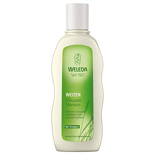 WELEDA Weizen Schuppen-Shampoo, Naturkosmetik Shampoo für die Pflege der Kopfhaut und zur Entfernung von Schuppen, Anti-Schuppen Pflegeshampoo mit Vitamin E (1 x 190 ml) -