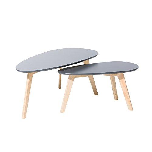 Tables Basses - Lot de 2 Tables d`appoint - Gris - Fly II