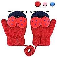 Sholov Guanti Invernali Bambino, Unisex Guanti per bambini Ragazza Guanti in lana Tessuto elastico simpatico c