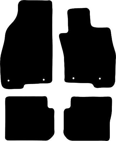 Alfa Romeo MiTo (2008-Present) Tailor Fit Car Mats, Premium Black with Black Trim