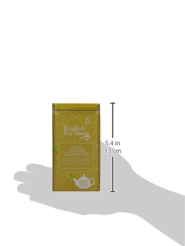 English Tea Shop Organic Christmas Cream Square Gift Tin- 15 Pyramid Tea Bags