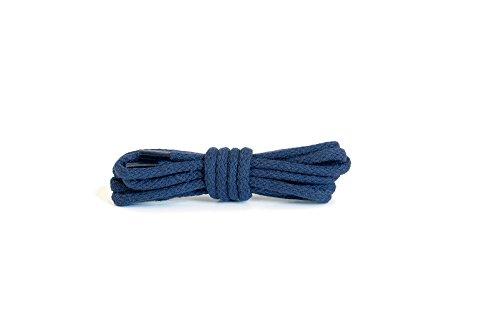Kaps Runde Schnürsenkel, hochwertige strapazierfähige 100% Baumwolle Schnürsenkel, hergestellt in Europa, 1 Paar, viele Farben und Längen (90 cm - 5 bis 6 Ösenpaare / 57 - Marine)