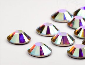 4 Ss Crystal (Swarovski Strasssteine No-Hotfix Elements   SS 4 (1.6mm), Crystal-AB, 1440 Stück (10 Gross))