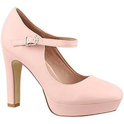 Elara - Tira de tobillo mujer, color Rosa